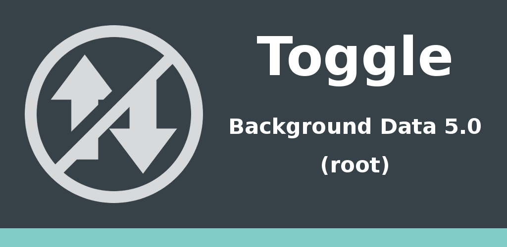 Toggle Background Data 5.0 Feature Graphic