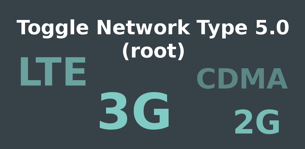 Toggle Network Type 5.0 Feature Graphic
